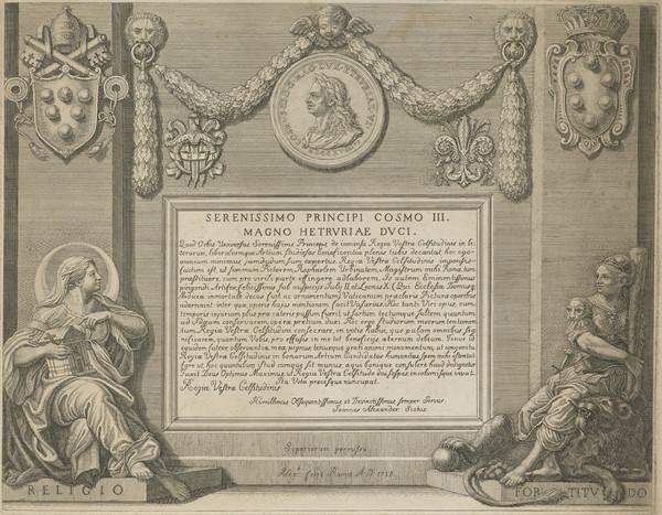 Frontispiece to a set of etchings after the Raphael Bible (1718)