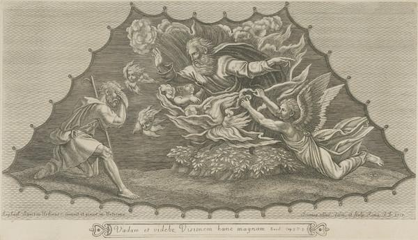 Moses before the burning bush (1717)