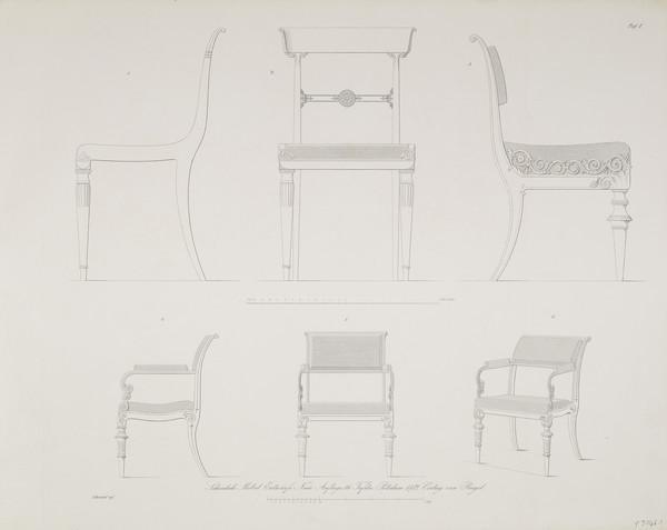 Sammlung von Mobel-Entwürfe, Plate 1 (Published 1862)