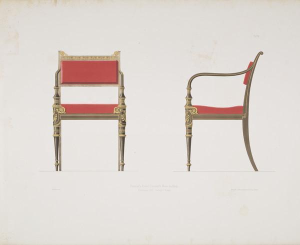 Sammlung von Mobel-Entwürfe, Plate 3 (Published 1862)