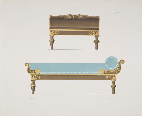 Sammlung von Mobel-Entwürfe, Plate 4 (Published 1862)