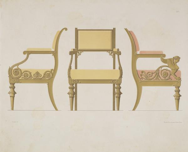 Sammlung von Mobel-Entwürfe, Plate 5 (Published 1862)