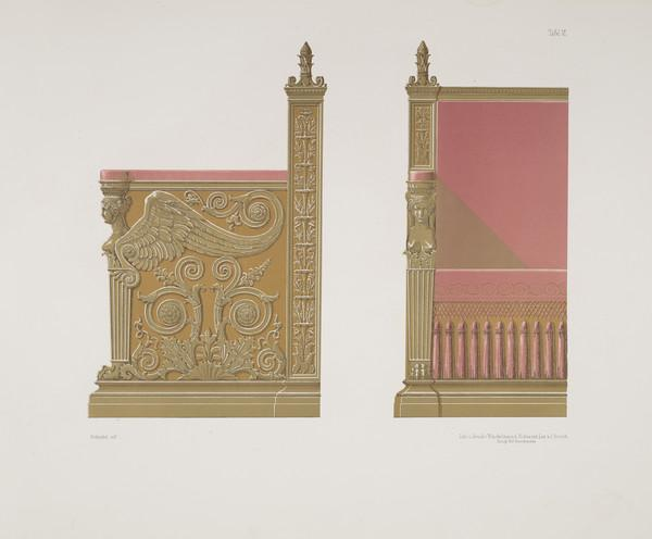Sammlung von Mobel-Entwürfe, Plate 6 (Published 1862)