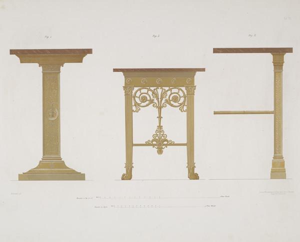 Sammlung von Mobel-Entwürfe, Plate 7 (Published 1862)