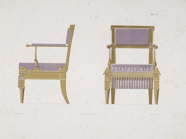 Sammlung von Mobel-Entwürfe, Plate 9 (Published 1862)