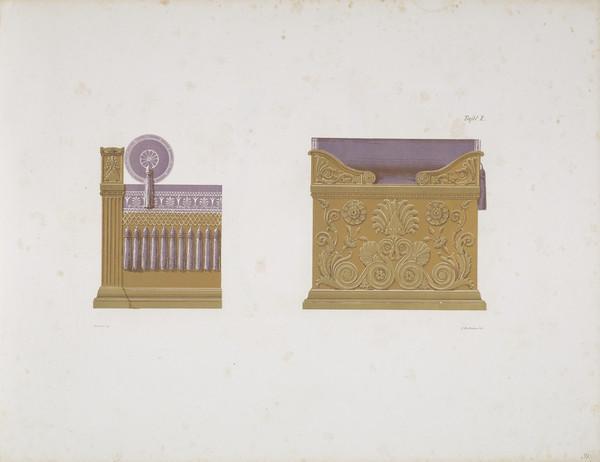 Sammlung von Mobel-Entwürfe, Plate 10 (Published 1862)