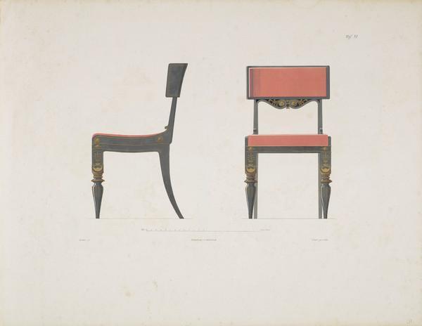 Sammlung von Mobel-Entwürfe, Plate 11 (Published 1862)