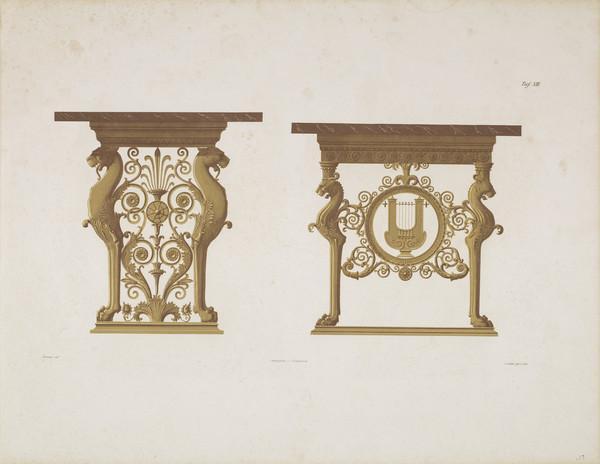 Sammlung von Mobel-Entwürfe, Plate 13 (Published 1862)
