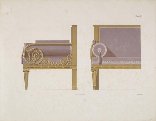 Sammlung von Mobel-Entwürfe, Plate 12 (Published 1862)