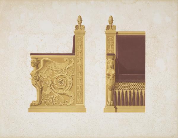 Sammlung von Mobel-Entwürfe, Plate 14 (Published 1862)