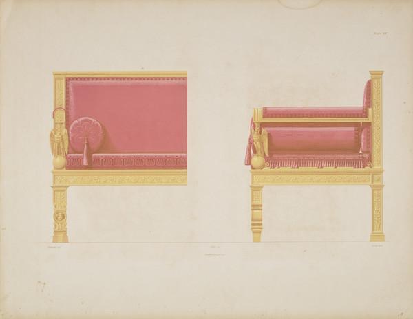 Sammlung von Mobel-Entwürfe, Plate 15 (Published 1862)