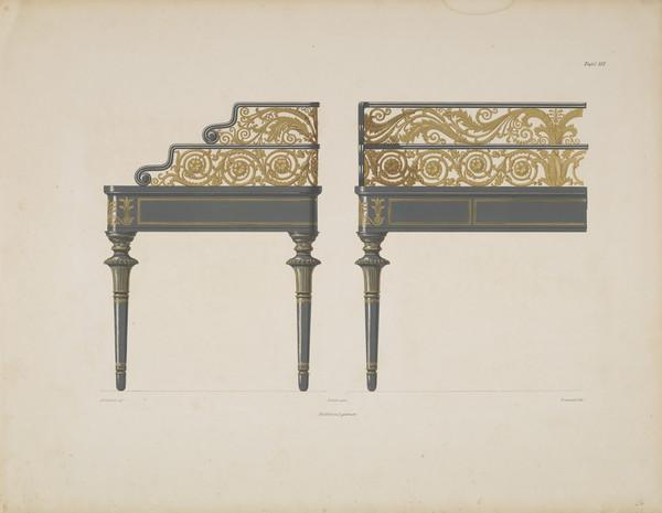 Sammlung von Mobel-Entwürfe, Plate 16 (Published 1862)