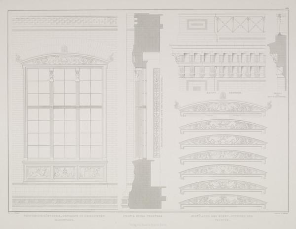 Elevation details (Plate 119 of  'Bauakademie' from Sammlung Architektonischer Entwürfe (1831-1836)