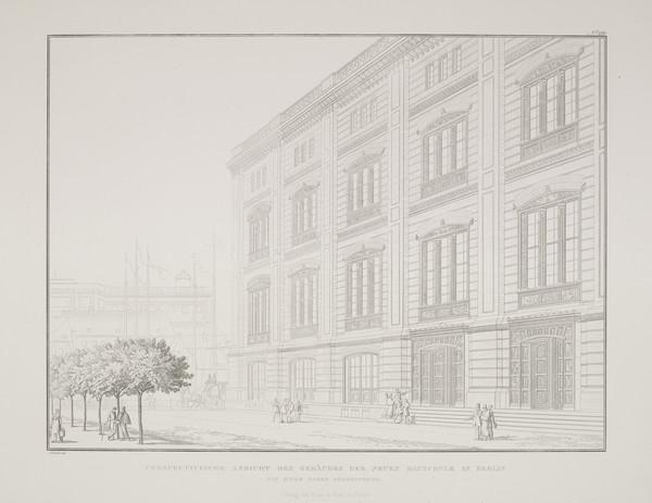 Perspective view (Plate 121 of  'Bauakademie' from Sammlung Architektonischer Entwürfe (1831-1836)