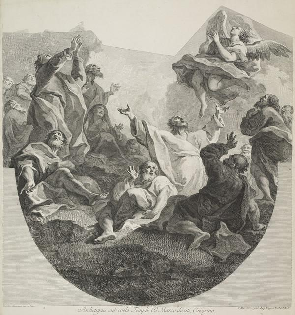 The Ascension of Christ (lower half)