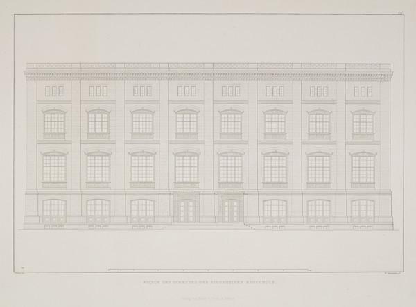 Elevation  (Plate 117 of  'Bauakademie' from Sammlung Architektonischer Entwürfe (1831-1836)