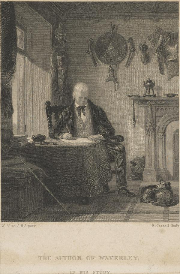 Sir Walter Scott, 1771 - 1832. Novelist and poet (in his study)