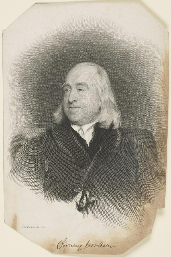 Jeremy Bentham, 1748 - 1832. Political writer