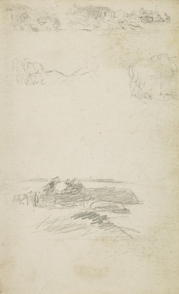 Slight Sketch of Horses Ploughing
