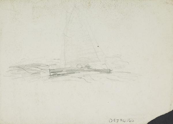 Sketch of a Skiff at Sea