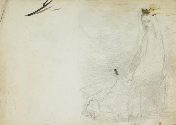 Study of a Standing Woman and a Reclining Man