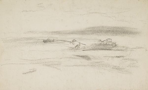 Slight Sketch of Men Fishing