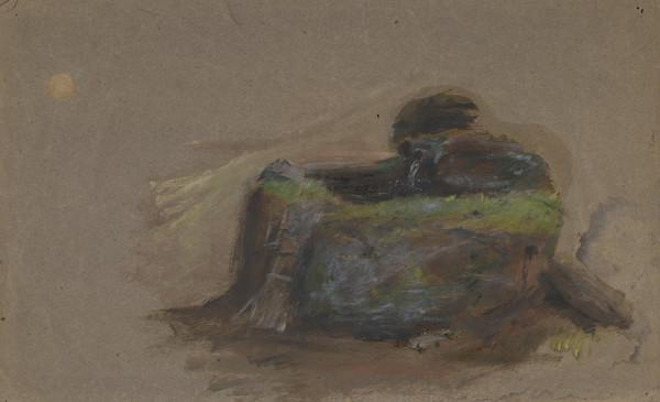 Study of a Waterpipe in a Landscape (1849 - 1910)