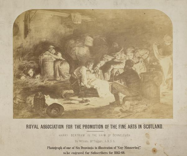 """Photograph of McTaggart's Illustration for """"Harry Bertram in the Kaim of Dencleugh"""""""