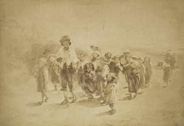 """Photograph of McTaggart's Painting """"Following the Fine Hats"""""""