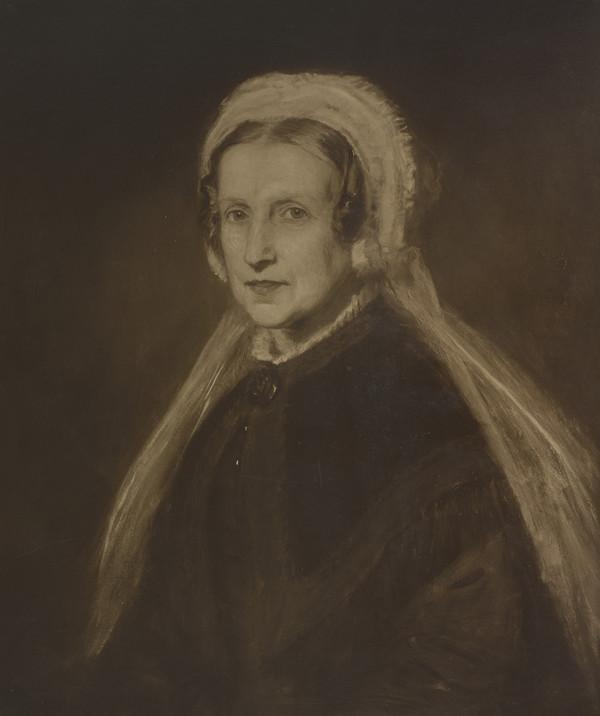 """Photograph of McTaggart's Painting """"Mrs Leiper"""""""