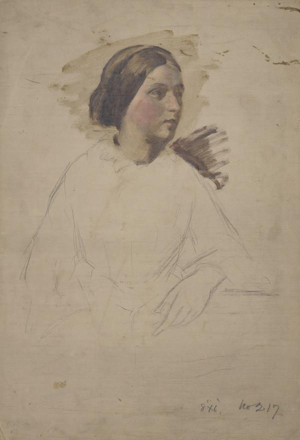 Portrait Study of a Lady (Probably 1850s)