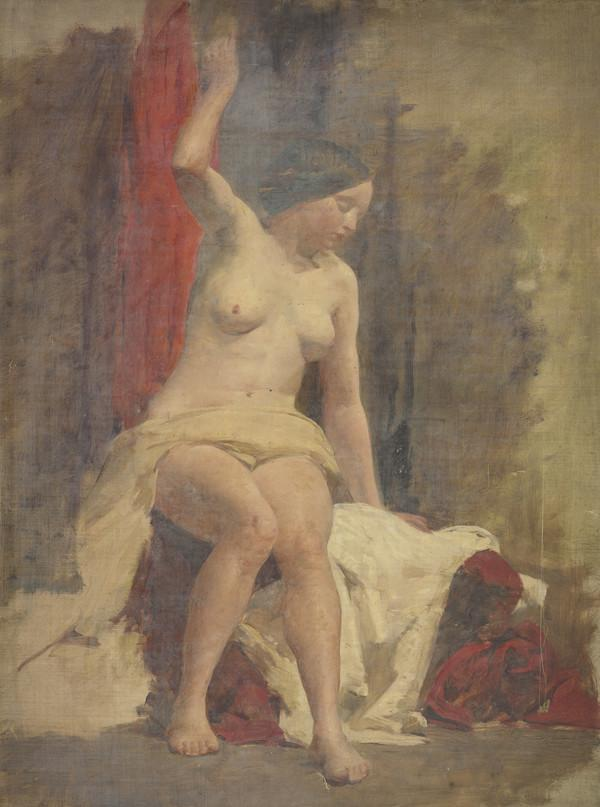 Life Study of a Seated Female Nude (1850s)