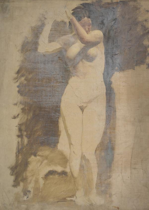 A Life Study of a Standing Female Nude (1850s)