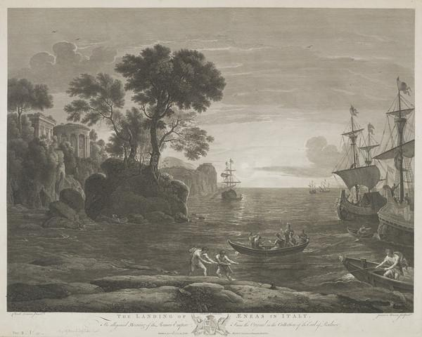 The Landing of Aeneas (vol.II, no.59) (1772)