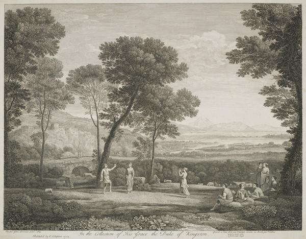 Landscape with Figures (Published 1742)