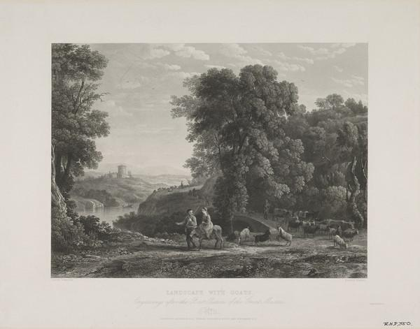 'Engravings After the Best Pictures of the Great Masters' (No.11): Landscape with Goats