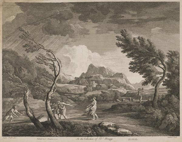 Landscape with trees bent by the wind (1742)