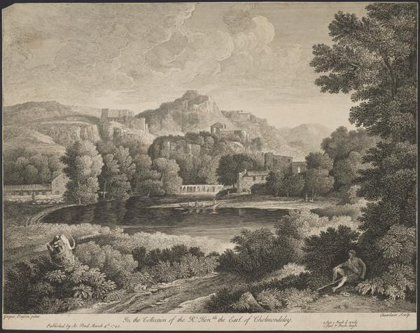 Landscape with a figure reclining in the right foreground (1743)