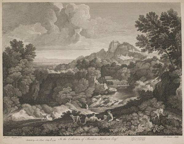 Landscape with dogs and figures reclining (1743)