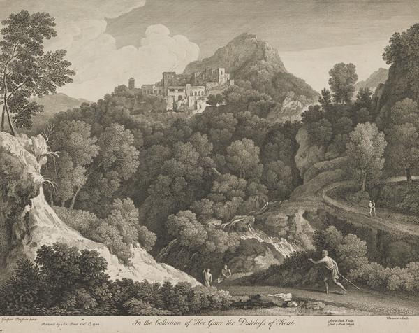 Landscape with waterfalls (1742)