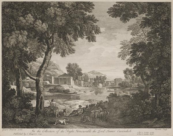 Landscape with goats and two shepherds resting (1741)