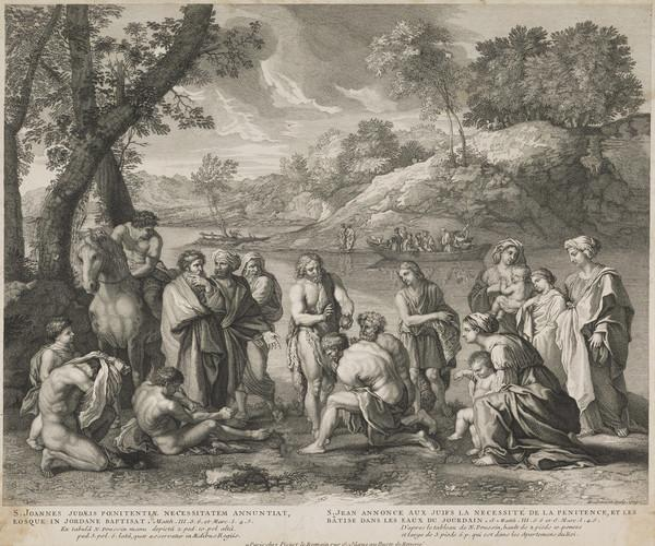 St John baptizing on the banks of the Jordan (1709)
