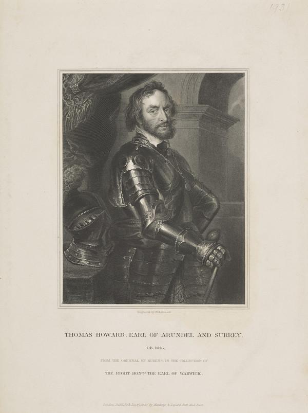 Thomas Howard, 2nd Earl of Arundel, 1st Earl of Norfolk, 1586 - 1646 (Published 1832)