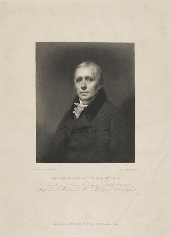 Rev. Archibald Alison, 1757 - 1839. Essayist (Published 1823)