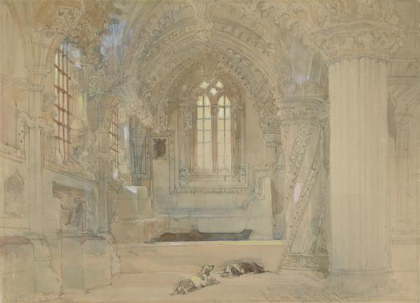 The Interior of Rosslyn Chapel (Dated 1842)