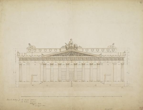 Northern Elevation of the Royal Institution, Edinburgh (now the Royal Scottish Academy Building) (1832)