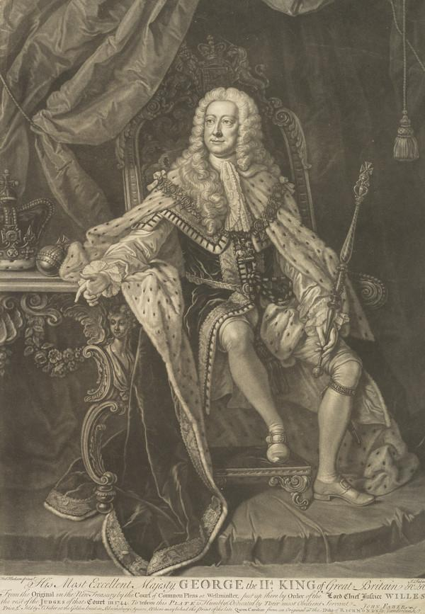George II, 1683 - 1760. Reigned 1727 - 1760