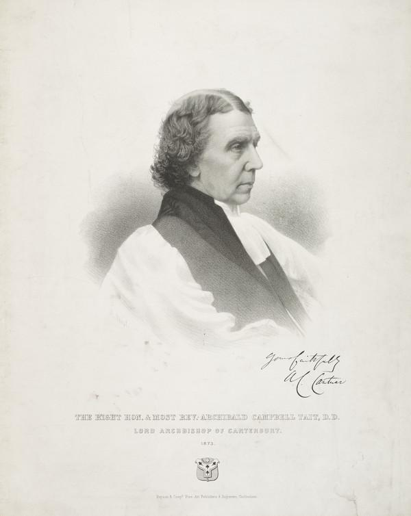 Archibald Campbell Tait, 1811 - 1882. Archbishop of Canterbury (Published 1873)