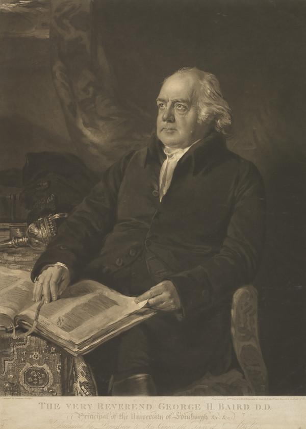 Rev. George Husband Baird, 1761 - 1840. Principal of Edinburgh University (with Thomas Elder)