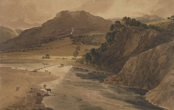 Stepping Stones on the Wharfe at Bolton Abbey (1801)